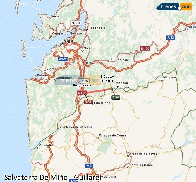 Ingrandisci la mappa Treni Salvaterra De Miño Guillarei