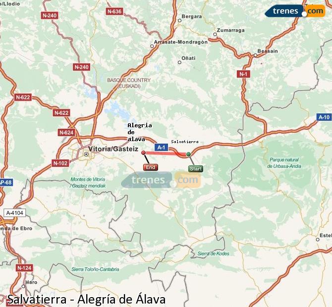 Karte vergrößern Züge Salvatierra Alegría de Álava
