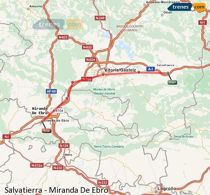 Ingrandisci la mappa Treni Salvatierra Miranda De Ebro