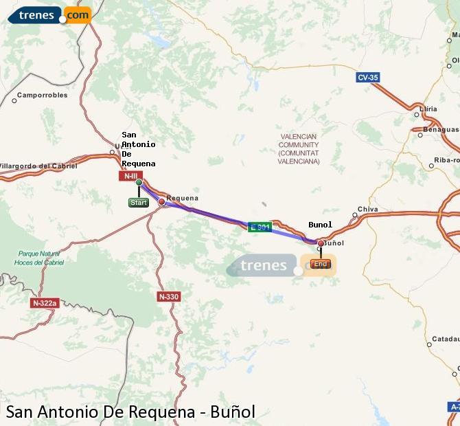 Ingrandisci la mappa Treni San Antonio De Requena Buñol
