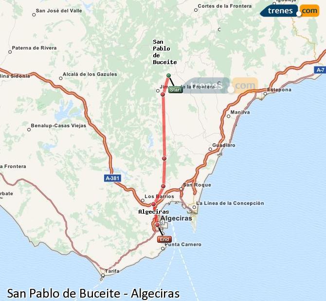 Ingrandisci la mappa Treni San Pablo de Buceite Algeciras