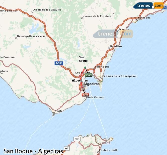 Ingrandisci la mappa Treni San Roque Algeciras