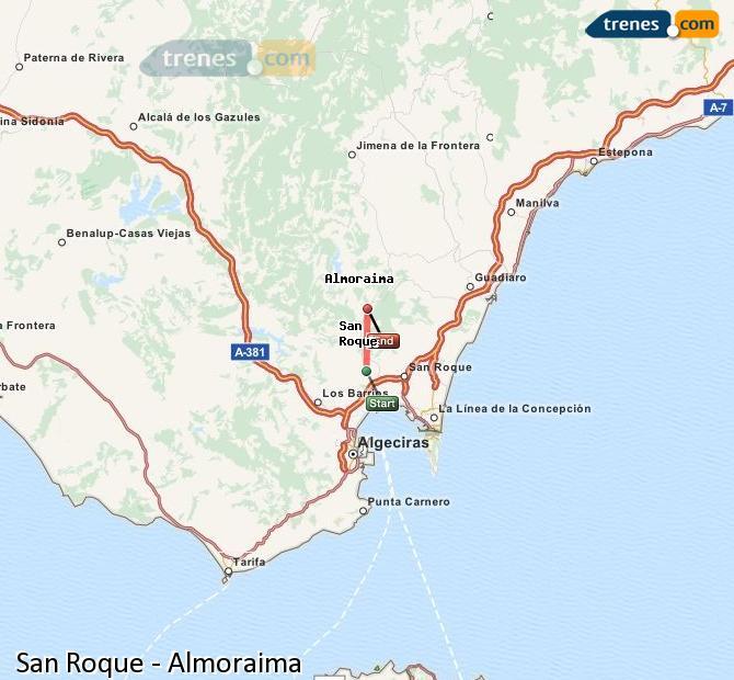 Ingrandisci la mappa Treni San Roque Almoraima