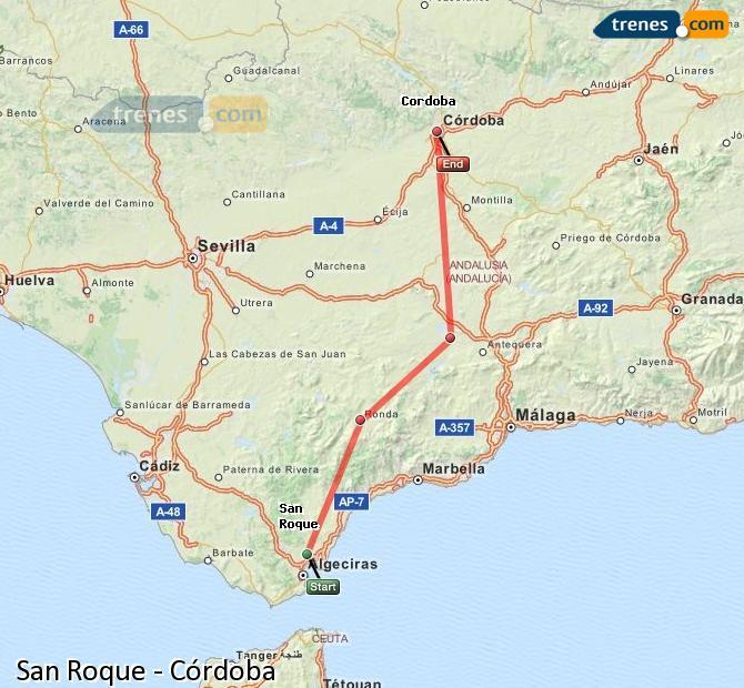 Agrandir la carte Trains San Roque Córdoba