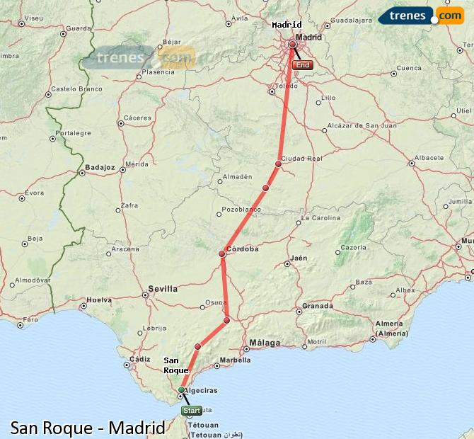 Ingrandisci la mappa Treni San Roque Madrid