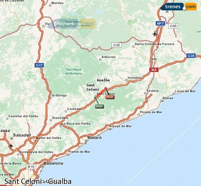 Ingrandisci la mappa Treni Sant Celoni Gualba