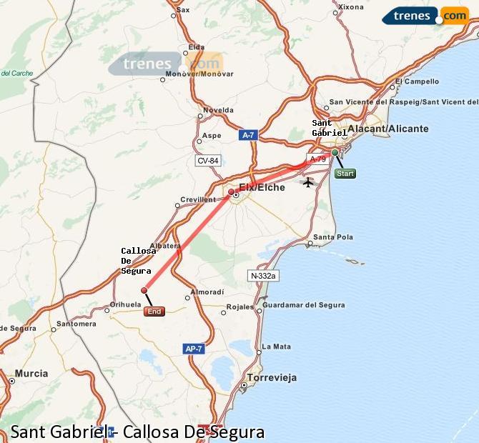 Ampliar mapa Comboios Sant Gabriel Callosa De Segura