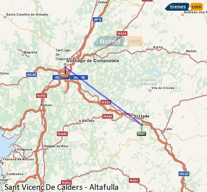 Agrandir la carte Trains Sant Vicenç De Calders Altafulla