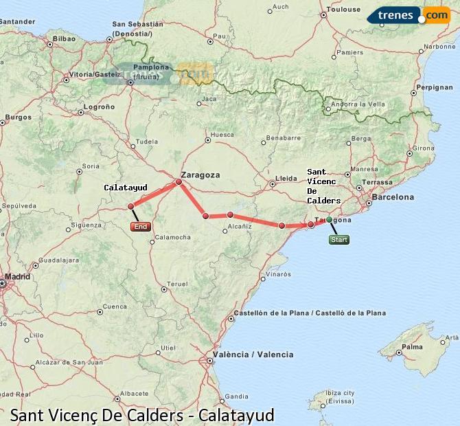Ingrandisci la mappa Treni Sant Vicenç De Calders Calatayud