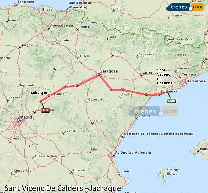 Ampliar mapa Trenes Sant Vicenç De Calders Jadraque