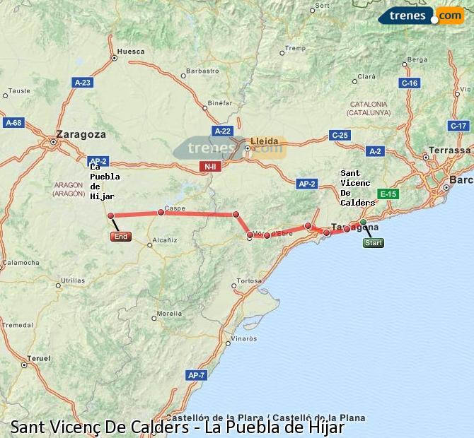 Ingrandisci la mappa Treni Sant Vicenç De Calders La Puebla de Híjar