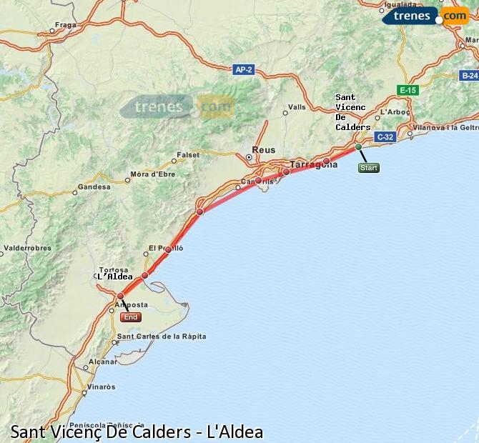 Karte vergrößern Züge Sant Vicenç De Calders L'Aldea