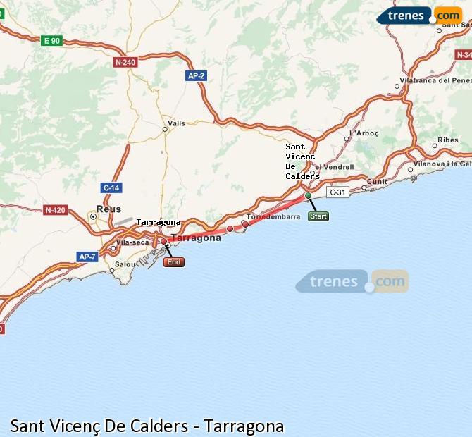 Ingrandisci la mappa Treni Sant Vicenç De Calders Tarragona