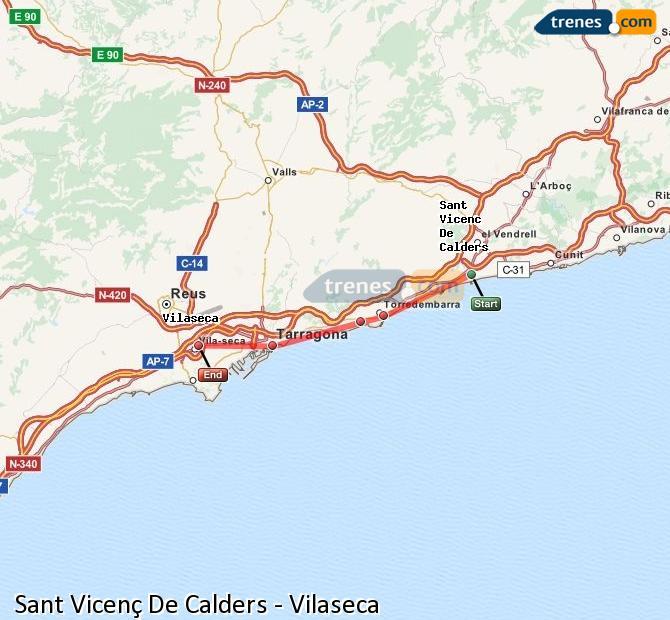 Ingrandisci la mappa Treni Sant Vicenç De Calders Vilaseca