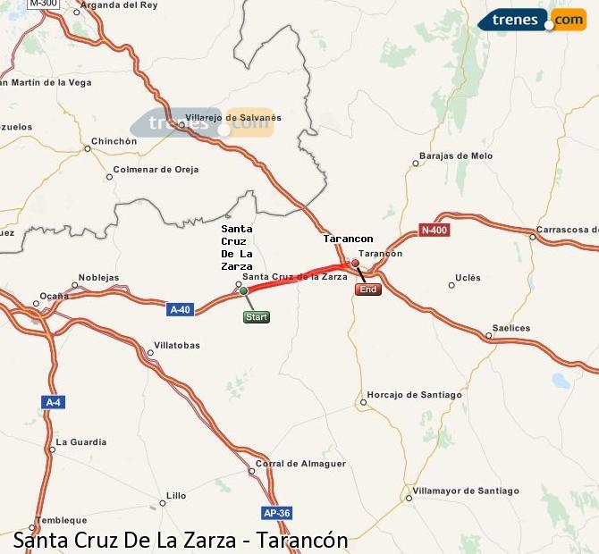 Karte vergrößern Züge Santa Cruz De La Zarza Tarancón