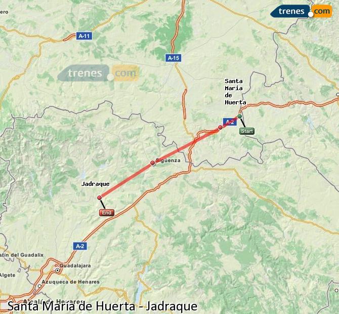 Ingrandisci la mappa Treni Santa María de Huerta Jadraque