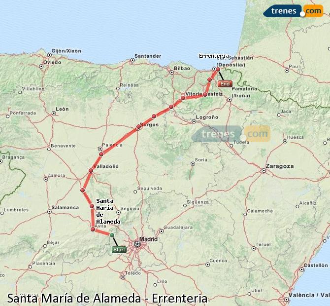 Ingrandisci la mappa Treni Santa María de Alameda Errenteria