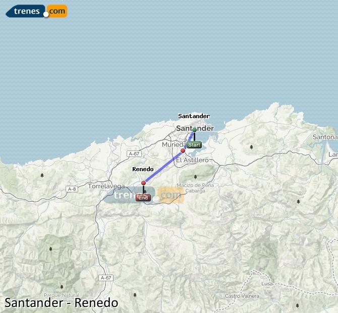 Ampliar mapa Comboios Santander Renedo