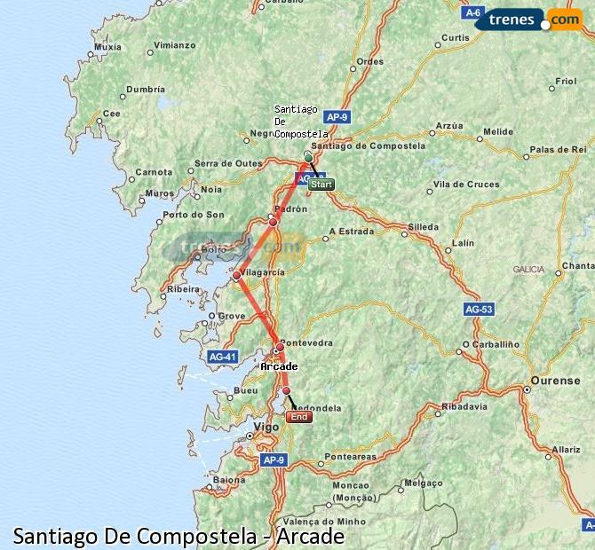 Ampliar mapa Trenes Santiago De Compostela Arcade