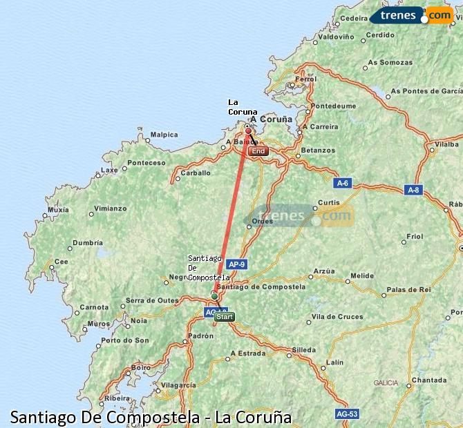 Trenes Santiago De Compostela  La Coruña