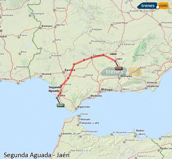 Agrandir la carte Trains Segunda Aguada Jaén