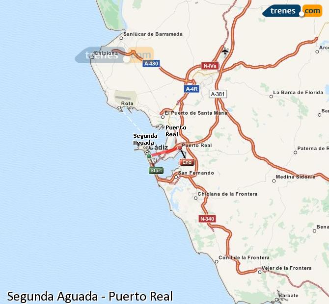 Ingrandisci la mappa Treni Segunda Aguada Puerto Real