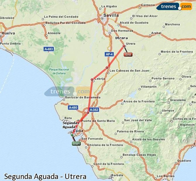 Ampliar mapa Trenes Segunda Aguada Utrera