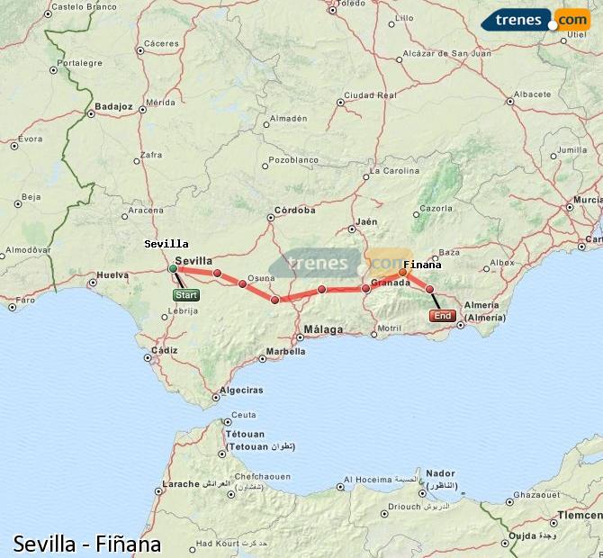 Ingrandisci la mappa Treni Sevilla Fiñana