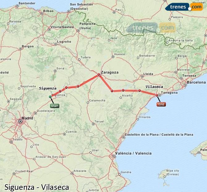 Ampliar mapa Trenes Siguenza Vilaseca