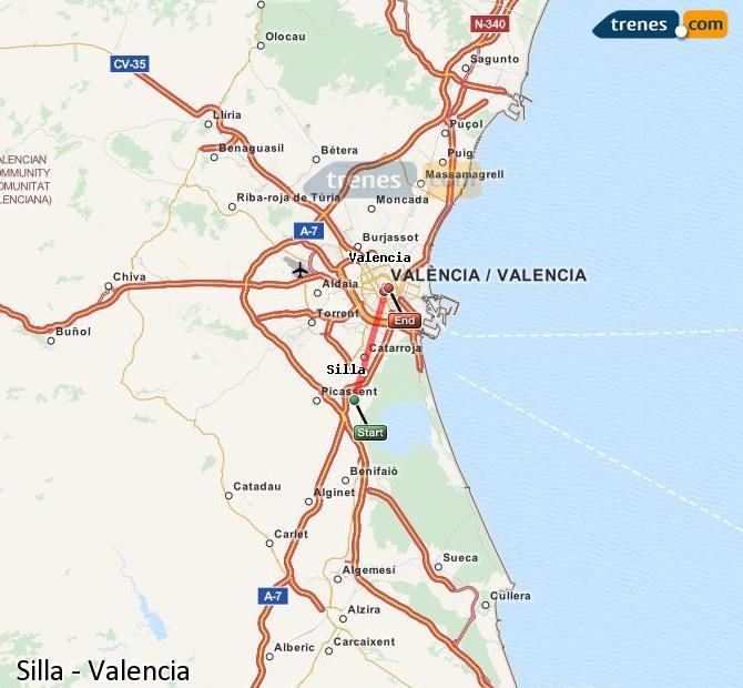 Ampliar mapa Comboios Silla Valencia