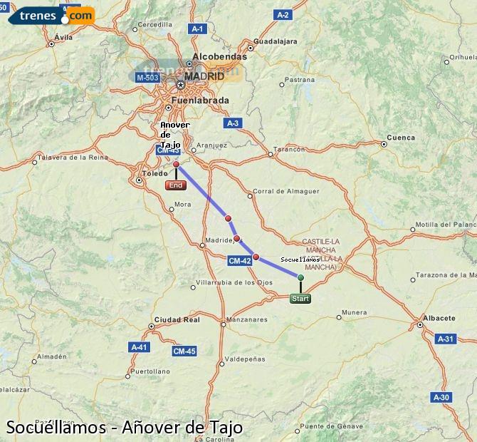 Ingrandisci la mappa Treni Socuéllamos Añover de Tajo
