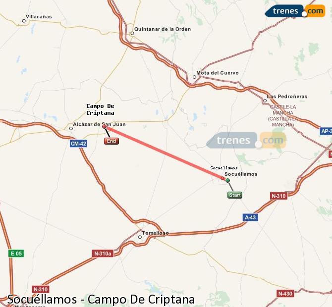 Ingrandisci la mappa Treni Socuéllamos Campo De Criptana