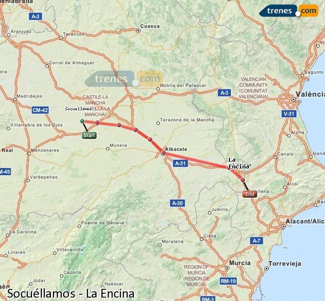 Ingrandisci la mappa Treni Socuéllamos La Encina
