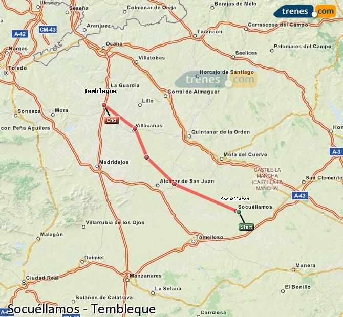 Ingrandisci la mappa Treni Socuéllamos Tembleque