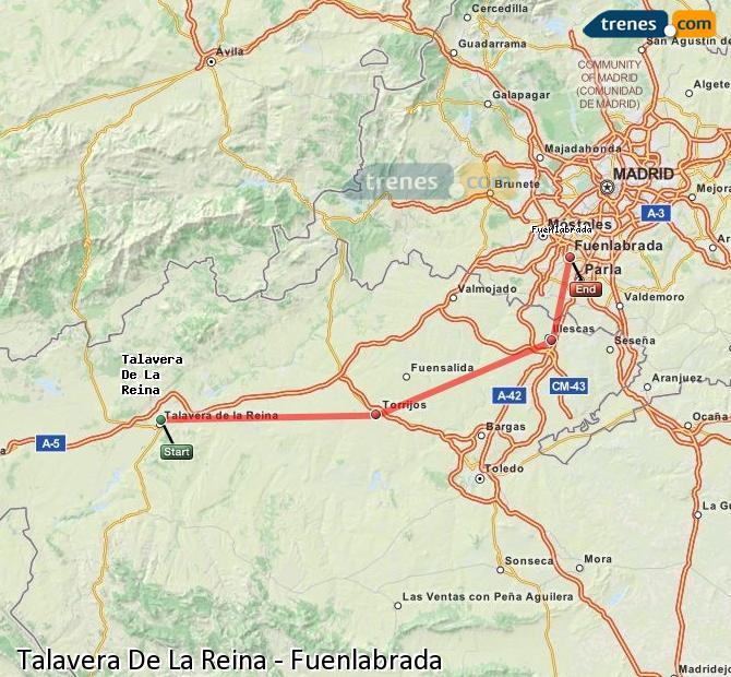 Karte vergrößern Züge Talavera De La Reina Fuenlabrada