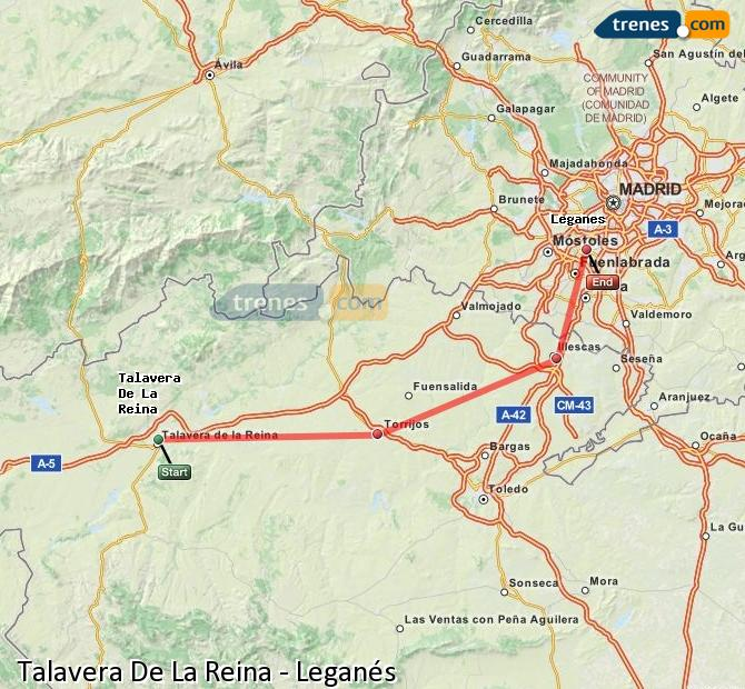 Enlarge map Trains Talavera De La Reina to Leganes