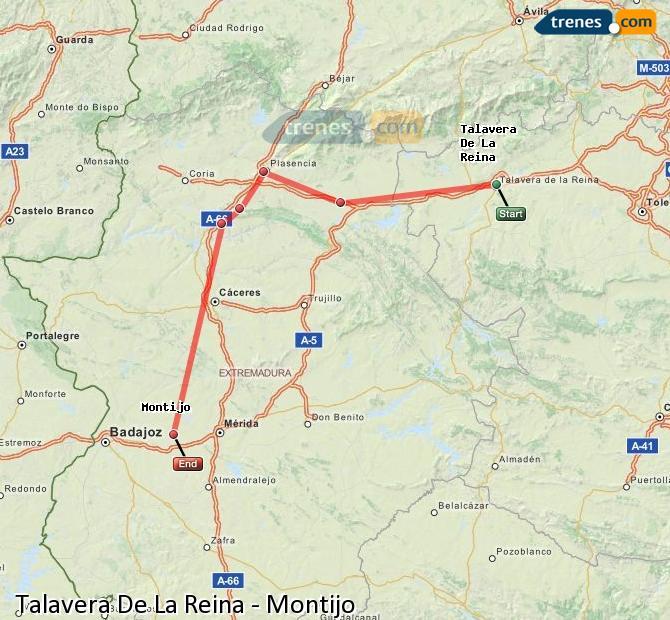 Ingrandisci la mappa Treni Talavera De La Reina Montijo
