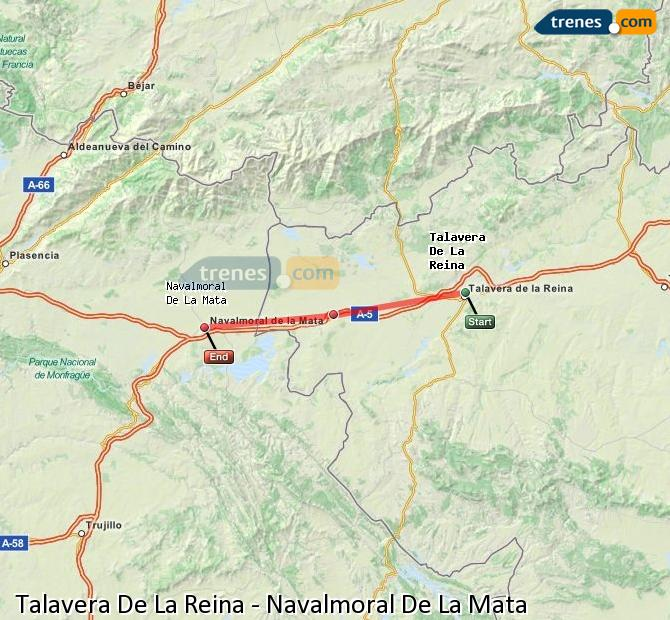 Ingrandisci la mappa Treni Talavera De La Reina Navalmoral De La Mata