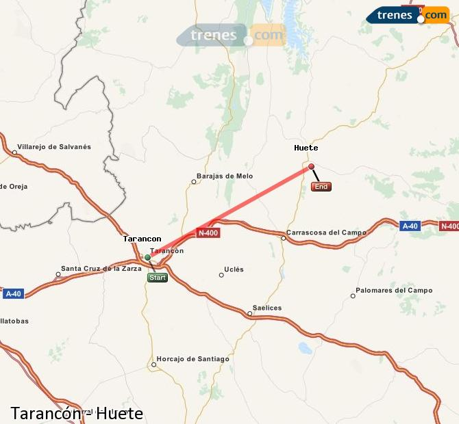 Karte vergrößern Züge Tarancón Huete