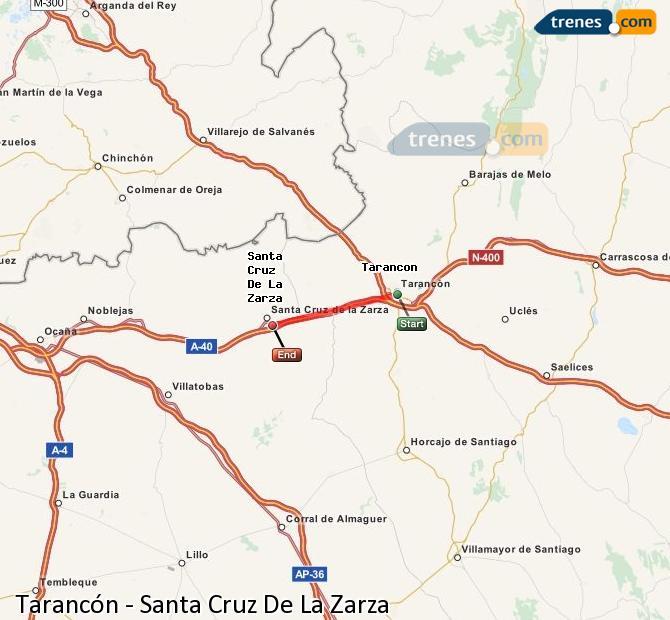 Enlarge map Trains Tarancon to Santa Cruz De La Zarza
