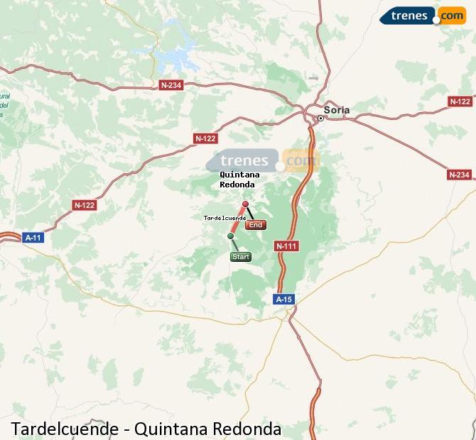 Ingrandisci la mappa Treni Tardelcuende Quintana Redonda