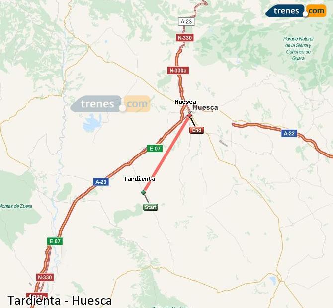 Ampliar mapa Trenes Tardienta Huesca