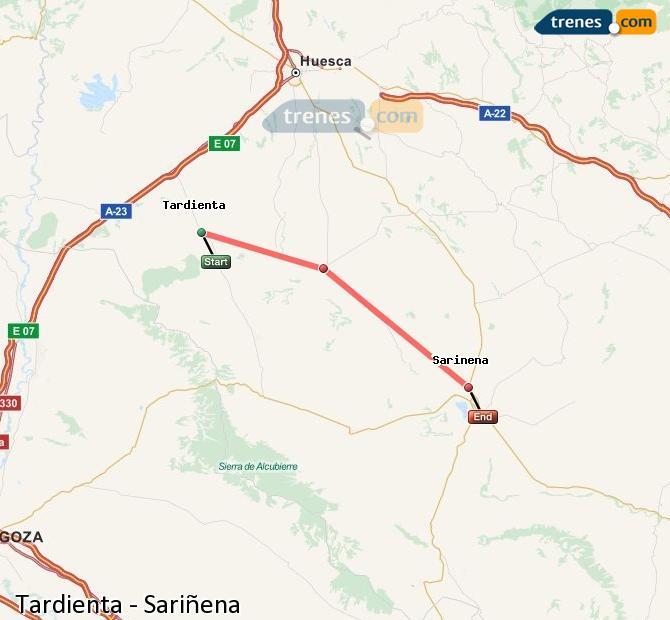 Ampliar mapa Trenes Tardienta Sariñena