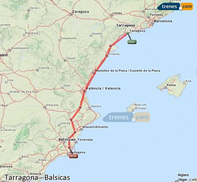 Ampliar mapa Trenes Tarragona Balsicas