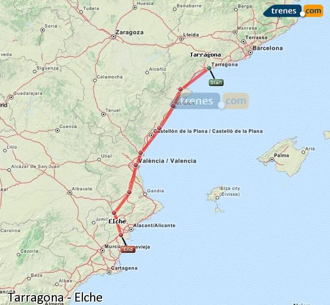 Ampliar mapa Trenes Tarragona Elche