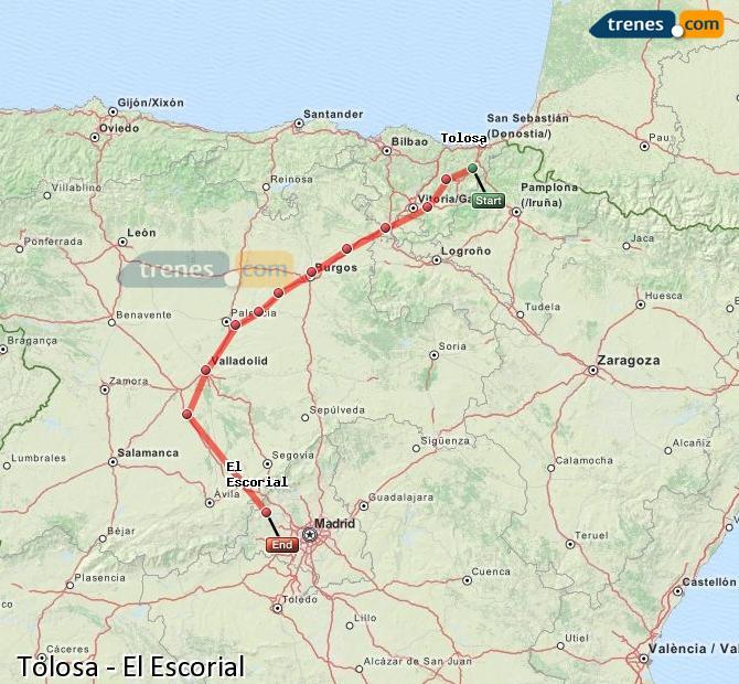 Ingrandisci la mappa Treni Tolosa El Escorial