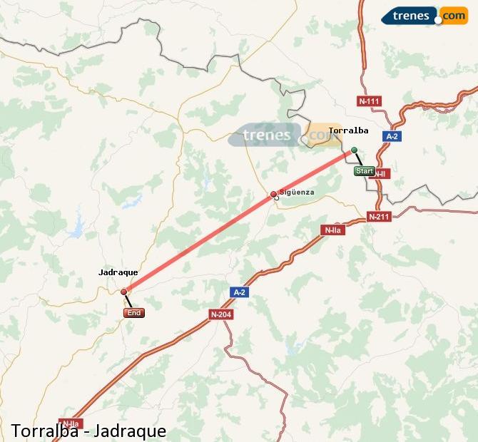 Ingrandisci la mappa Treni Torralba Jadraque