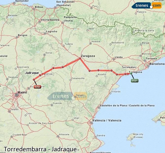 Ampliar mapa Trenes Torredembarra Jadraque