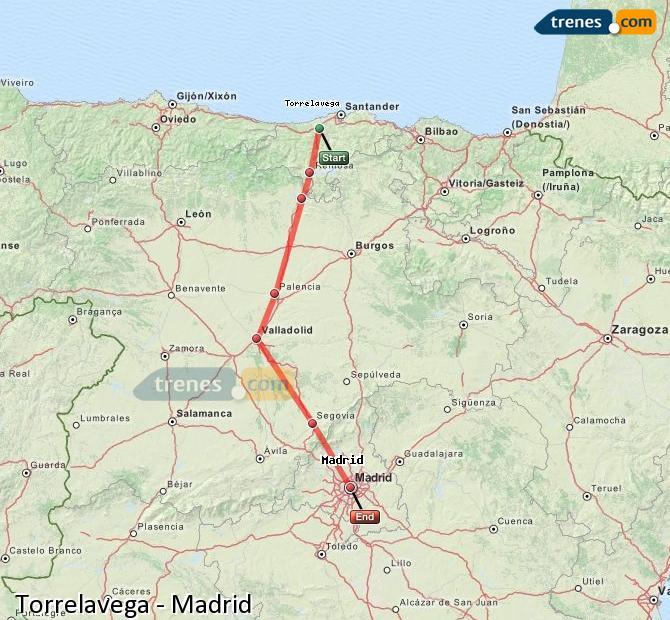Ampliar mapa Trenes Torrelavega Madrid