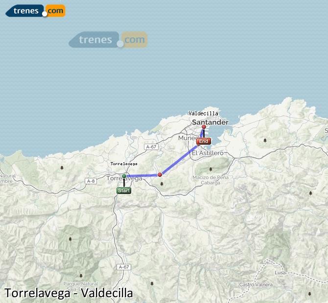 Ingrandisci la mappa Treni Torrelavega Valdecilla